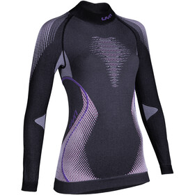 UYN Evolutyon Melange UW LS Turtle Neck Top Women anthracite melange/raspberry/purple